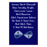 Las ecuaciones del maxwell poster