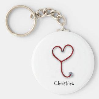 Las enfermeras cuidan con el corazón - regalo de l llavero redondo tipo pin