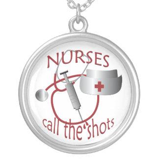 Las enfermeras de la enfermera llaman los tiros colgante redondo