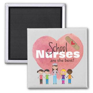 ¡Las enfermeras de la escuela son el mejor! (imán) Imán Cuadrado
