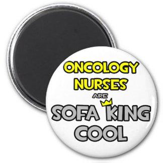 Las enfermeras de la oncología son rey Cool del Imán Redondo 5 Cm
