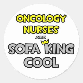 Las enfermeras de la oncología son rey Cool del Pegatina Redonda
