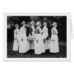 Las enfermeras de la Primera Guerra Mundial llevan Tarjetas