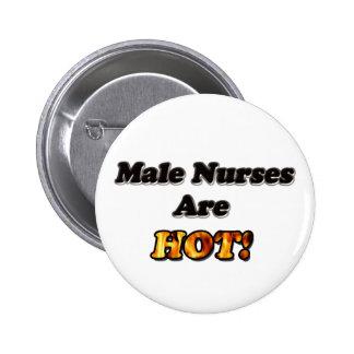 Las enfermeras de sexo masculino son calientes pin redondo de 2 pulgadas