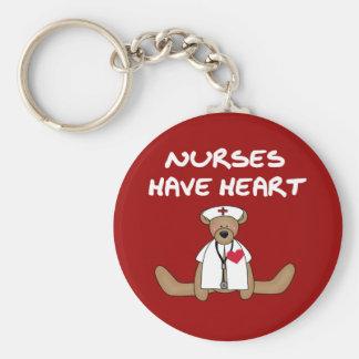 Las enfermeras del oso tienen camisetas y regalos  llavero redondo tipo pin