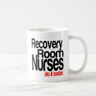 Las enfermeras del sitio de recuperación mejora taza de café
