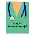 Las enfermeras felices lindas que la semana friega tarjetas