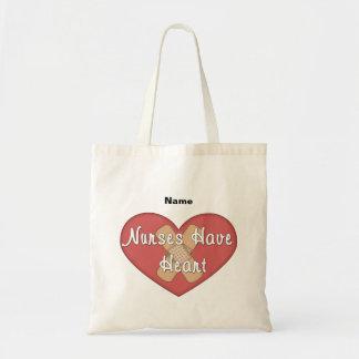 Las enfermeras hacen corazón (personalizar) bolsa tela barata