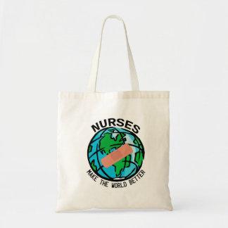 Las enfermeras hacen el mundo un mejor bolso bolsa tela barata