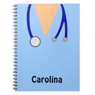 Las enfermeras lindas friegan caprichoso personali spiral notebook