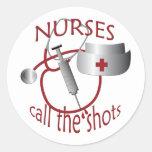 Las enfermeras llaman al pegatina de la enfermera