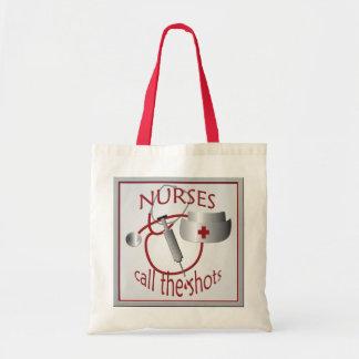 Las enfermeras llaman la bolsa de asas del presupu