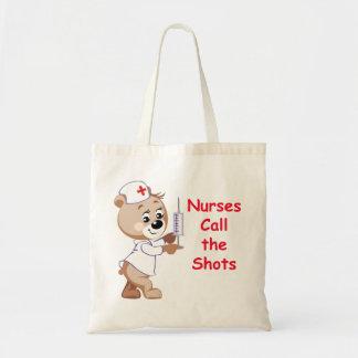 Las enfermeras llaman los tiros - oso de la enferm bolsa de mano