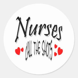 Las enfermeras llaman los tiros pegatinas