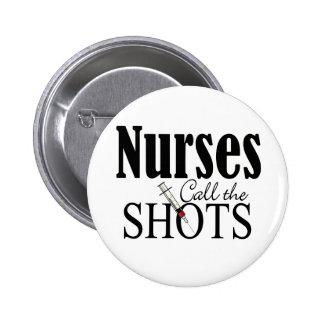 Las enfermeras llaman los tiros pin redondo 5 cm