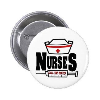 Las enfermeras llaman los tiros pin redondo de 2 pulgadas