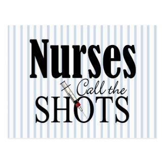 Las enfermeras llaman los tiros postales