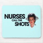 Las enfermeras llaman los tiros tapetes de ratones