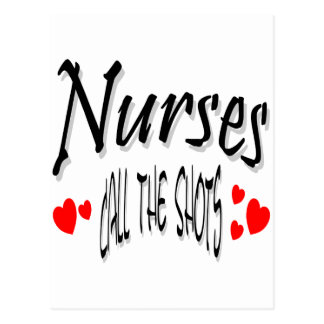 Las enfermeras llaman los tiros tarjeta postal
