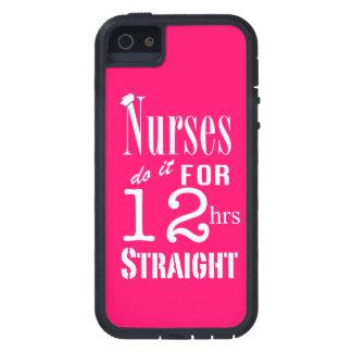 ¡Las enfermeras lo hacen 12 horas de recto! - Rosa iPhone 5 Case-Mate Carcasa