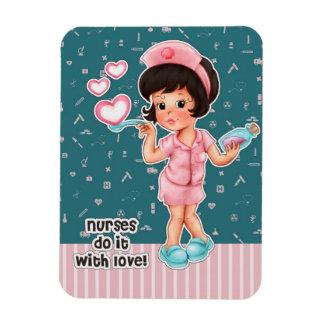 Las enfermeras lo hacen con amor Imanes del regal