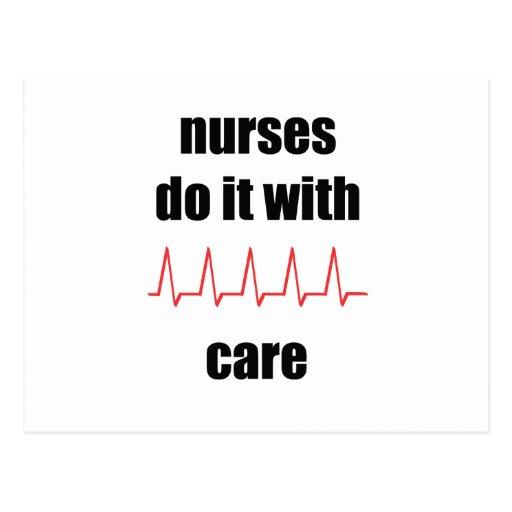 las enfermeras lo hacen con cuidado postal