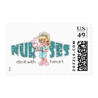 Las enfermeras lo hacen con el corazón. Sellos