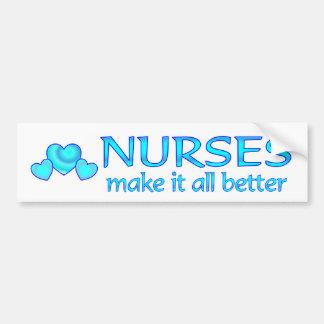 Las enfermeras lo hacen mejor pegatina para auto
