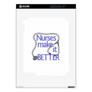 Las enfermeras lo hacen mejor calcomanías para iPad 2