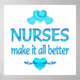 Las enfermeras lo hacen mejor poster