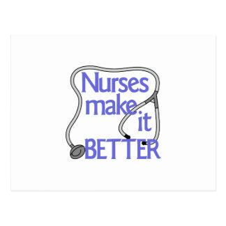 Las enfermeras lo hacen mejor tarjeta postal