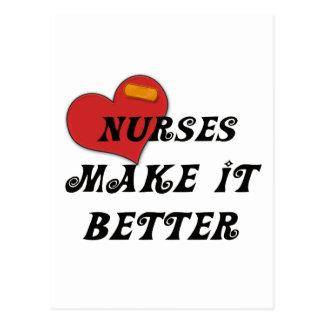 Las enfermeras lo hacen mejor postales