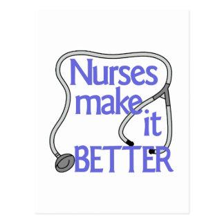 Las enfermeras lo hacen mejor tarjetas postales