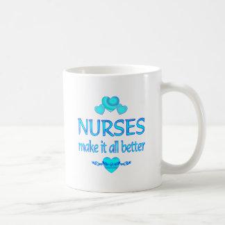 Las enfermeras lo hacen mejor tazas de café