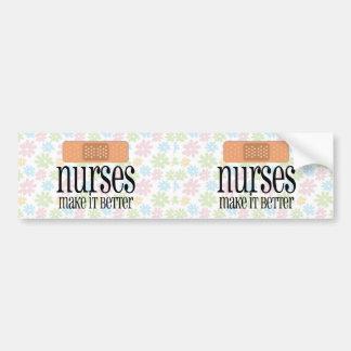 Las enfermeras lo hacen mejor, vendaje etiqueta de parachoque