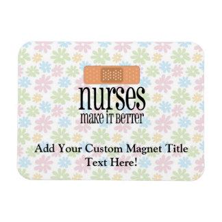 Las enfermeras lo hacen mejor, vendaje iman rectangular
