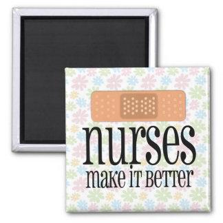 Las enfermeras lo hacen mejor, vendaje imán cuadrado