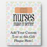 Las enfermeras lo hacen mejor, vendaje placa para mostrar