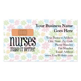 Las enfermeras lo hacen mejor, vendaje tarjetas de negocios