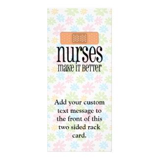 Las enfermeras lo hacen mejor, vendaje tarjeta publicitaria personalizada