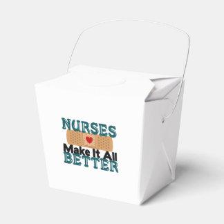 Las enfermeras lo hacen todo mejor caja para regalos de fiestas