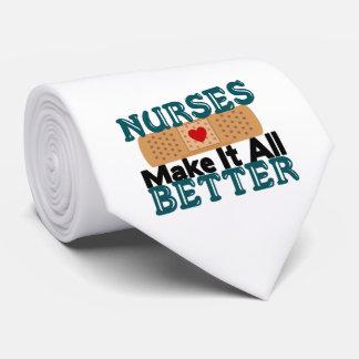 Las enfermeras lo hacen todo mejor corbatas personalizadas
