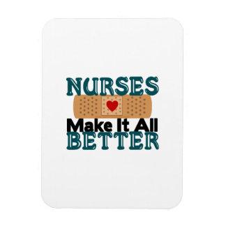Las enfermeras lo hacen todo mejor imán