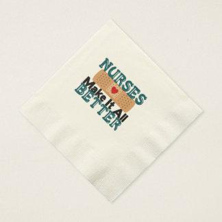 Las enfermeras lo hacen todo mejor servilletas de papel