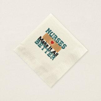 Las enfermeras lo hacen todo mejor servilletas desechables