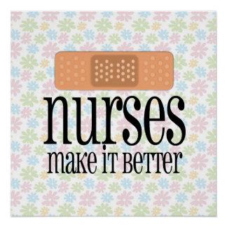 Las enfermeras lo hacen un vendaje mejor, lindo de perfect poster