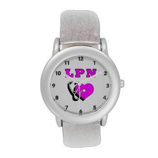 Las enfermeras miran para LPN Reloj