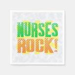 Las enfermeras oscilan, enfermera anaranjada/verde servilletas desechables