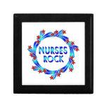 Las enfermeras oscilan las estrellas rojas caja de joyas