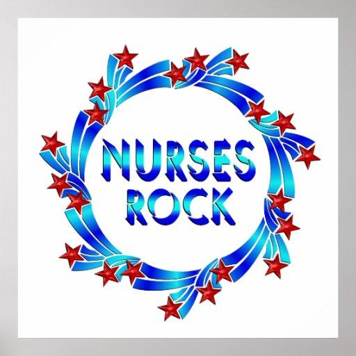 Las enfermeras oscilan las estrellas rojas impresiones